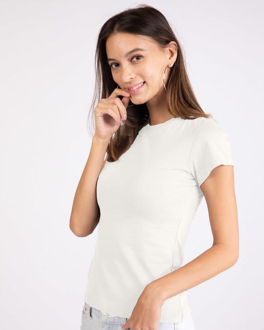 Shop Off White Half Sleeve T-shirt-Back