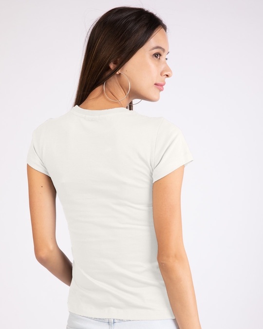 Shop Off White Half Sleeve T-shirt-Back