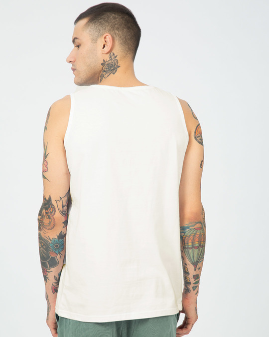 Shop Off White Round Neck Vest-Full