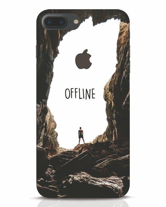Shop Offline iPhone 7 Plus Logo Cut Mobile Cover-Front