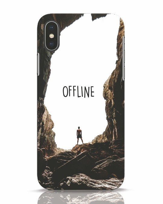 Shop Offline iPhone X Mobile Cover-Front