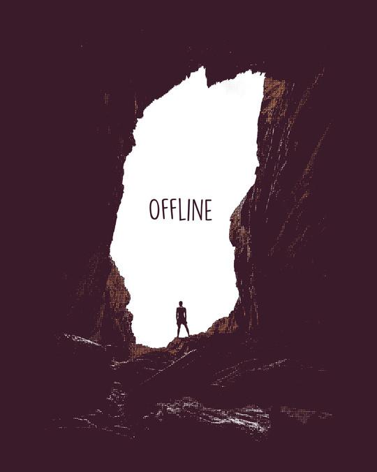 Shop Offline Photorealistic Half Sleeve T-Shirt