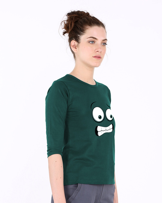 Shop Oh Fuck Round Neck 3/4th Sleeve T-Shirt-Back