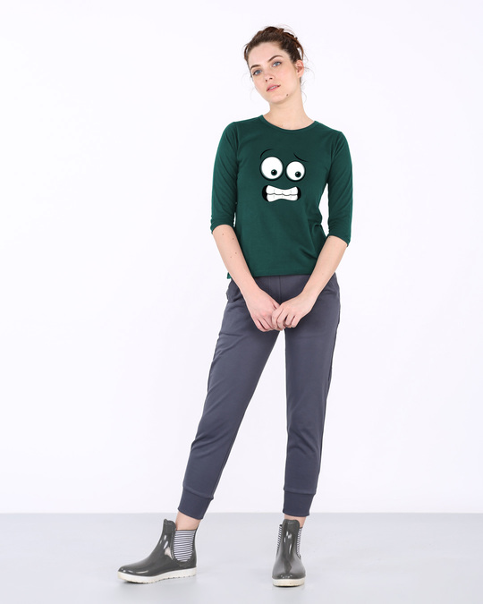 Shop Oh Fuck Round Neck 3/4th Sleeve T-Shirt-Full
