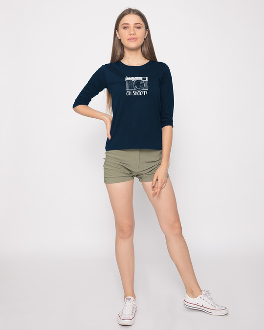 Shop Oh Shoot Round Neck 3/4th Sleeve T-Shirt-Full
