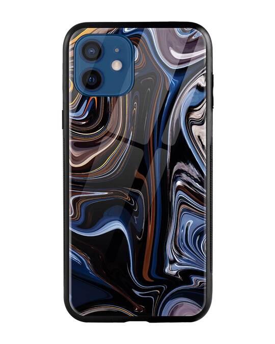 Shop Oil Paint Marable iPhone 12 Mobile Cover-Front