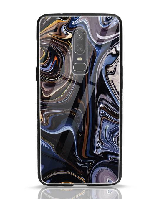 Shop Oil Paint Marable OnePlus 6 Glass Mobile Cover-Front