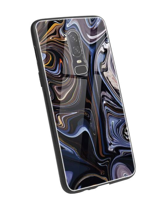 Shop Oil Paint Marable OnePlus 6 Glass Mobile Cover-Back