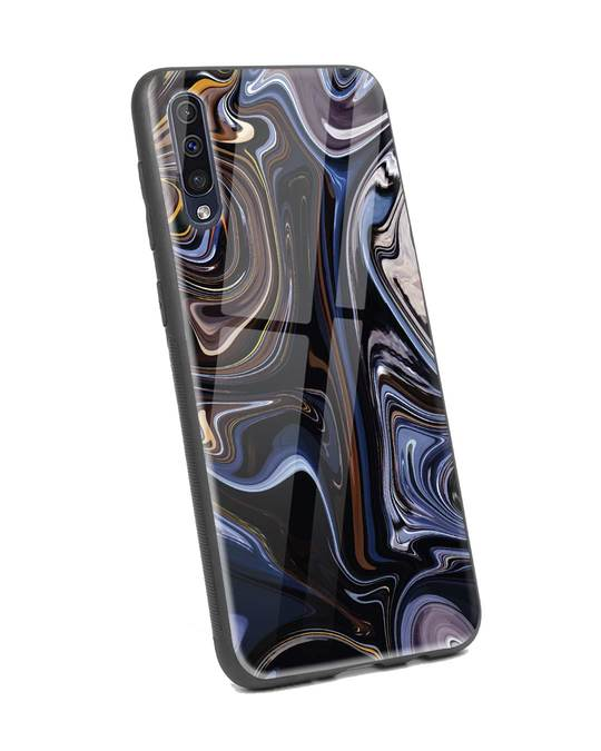 Shop Oil Paint Marable Samsung Galaxy A50 Glass Mobile Cover-Back