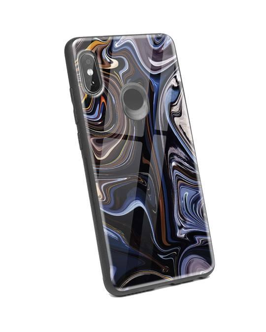 Shop Oil Paint Marable Xiaomi Redmi Note 5 Pro Glass Mobile Cover-Back