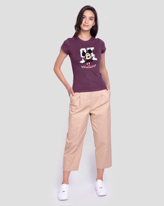 Shop Ok Whatever Half Sleeve T-Shirt (DL) Deep Purple-Design