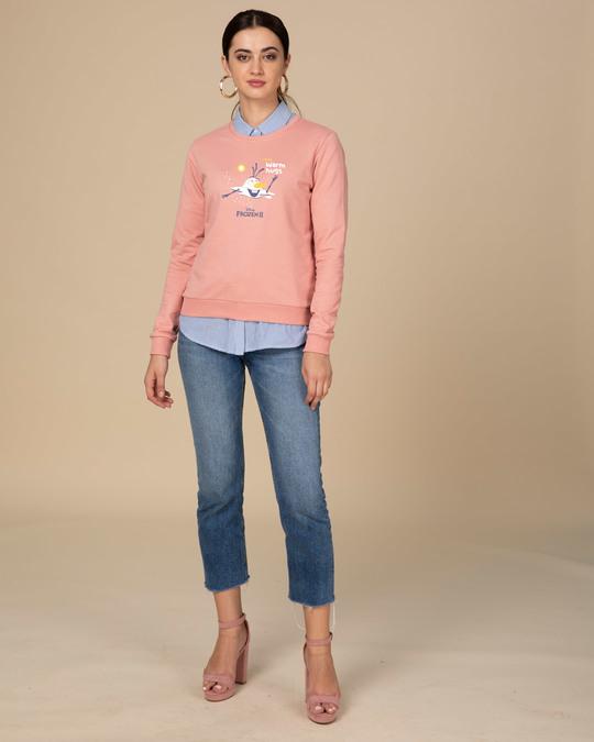 Shop Olaf-i Love Warm Hugs Fleece Light Sweatshirt (FROZEN)-Design