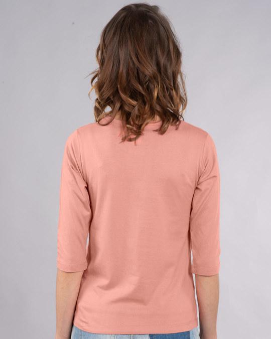 Shop Olaf-i Love Warm Hugs Round Neck 3/4th Sleeve T-Shirt (FROZEN)-Back