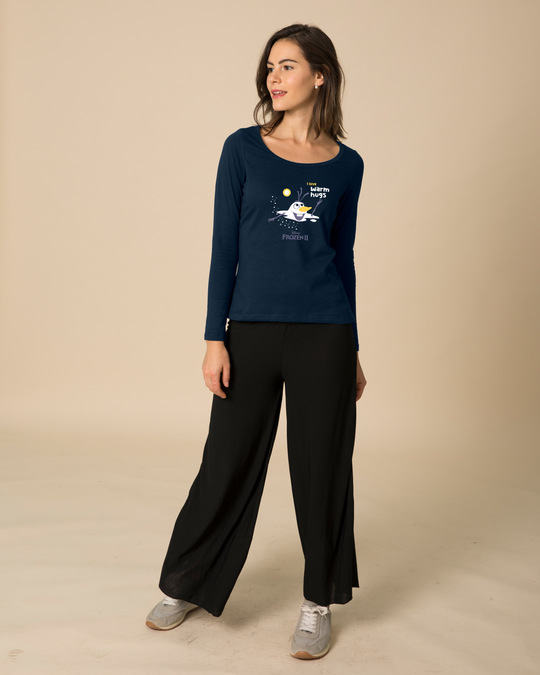 Shop Olaf-i Love Warm Hugs Scoop Neck Full Sleeve T-Shirt (FROZEN)-Design