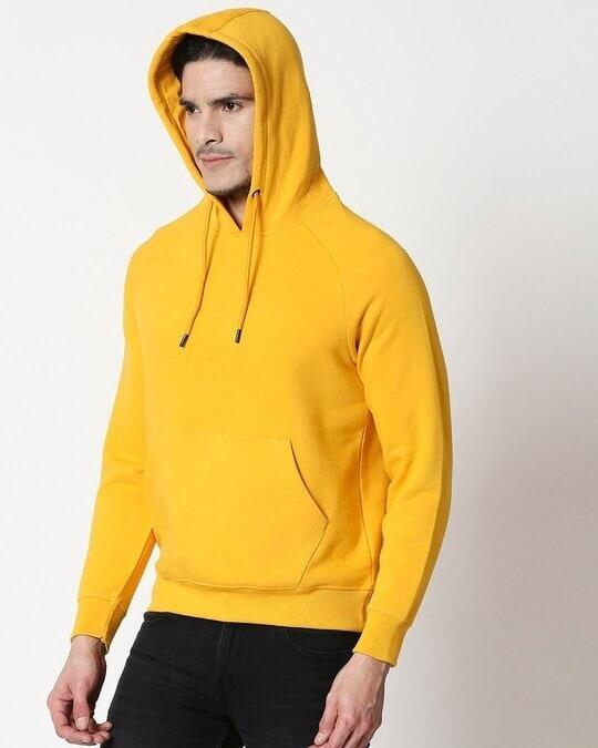 Shop Old Gold Basic Hoodie Sweatshirt-Design