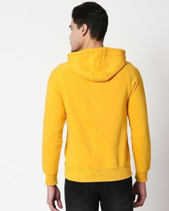 Shop Old Gold Basic Hoodie Sweatshirt-Full