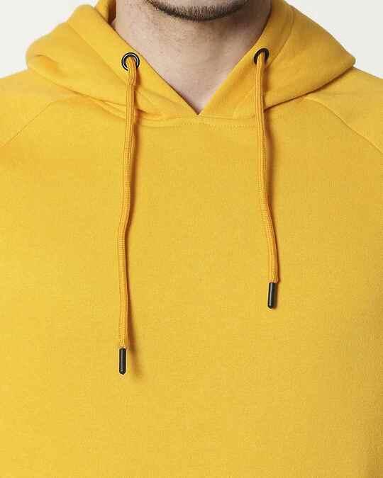 Shop Old Gold Basic Hoodie Sweatshirt
