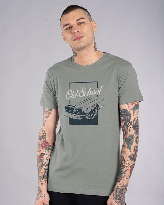 Shop Old School Wheel Half Sleeve T-Shirt-Back