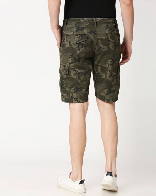 Shop Olive Camo Men's Shorts-Full