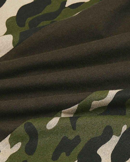 Shop Olive Camo Sleeve Color Block Camo T-Shirt