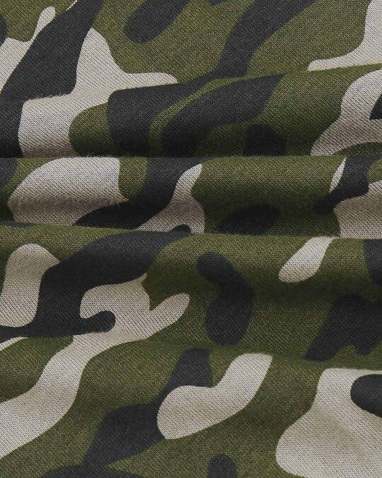 Shop Olive Camo Sleeve Raglan Camo T-Shirt