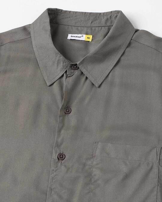 Shop Olive Men's Half Sleeves Shirt