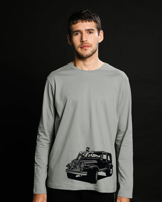 Shop On The Road Again Full Sleeve T-Shirt-Front