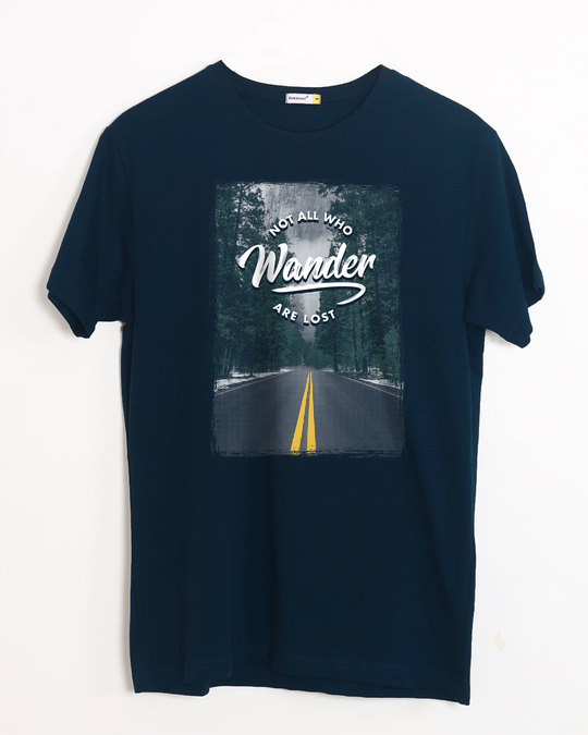 Shop On The Road Half Sleeve T-Shirt-Front