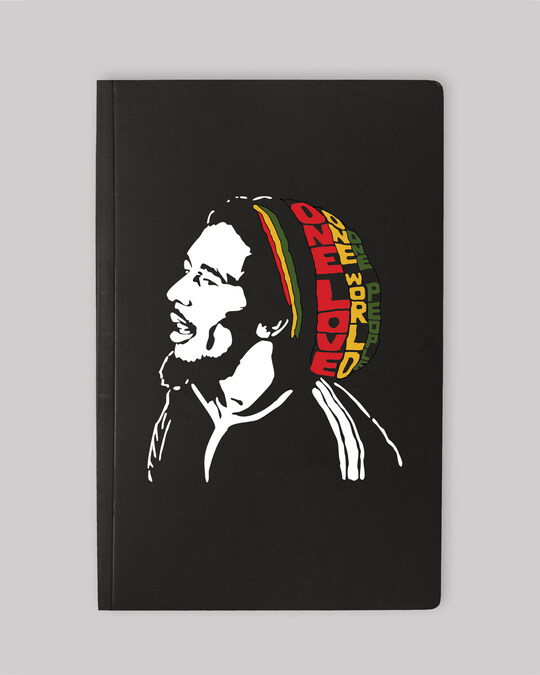 Shop One Love Bob Marley Notebooks-Front