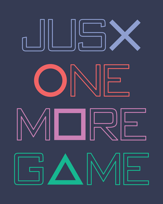Shop One More Game Half Sleeve T-Shirt-Full