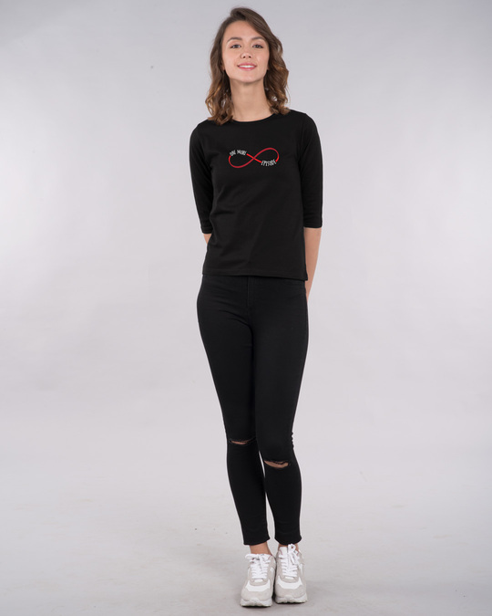 Shop One More Infinity Round Neck 3/4th Sleeve T-Shirt-Full
