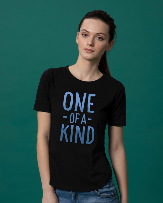 Shop One Of A Kind Basic Round Hem T-Shirt-Front