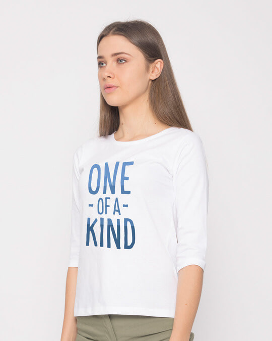 Shop One Of A Kind Round Neck 3/4th Sleeve T-Shirt-Back