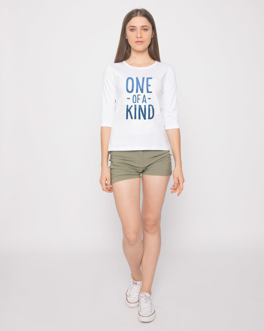 Shop One Of A Kind Round Neck 3/4th Sleeve T-Shirt