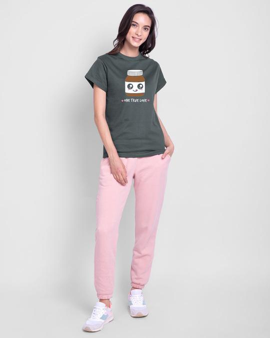 Shop One True Love Boyfriend T-Shirt Nimbus Grey-Design