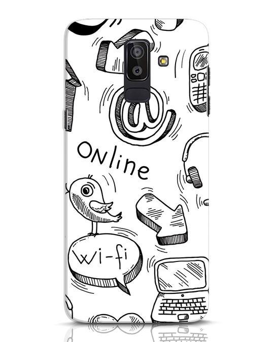Shop Online Doodle Samsung Galaxy J8 Mobile Cover-Front