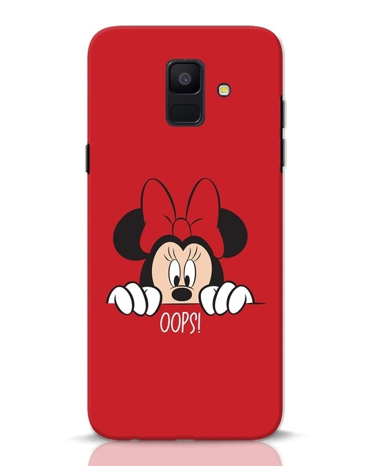 Shop Oops Minnie Samsung Galaxy A6 2018 Mobile Cover-Front