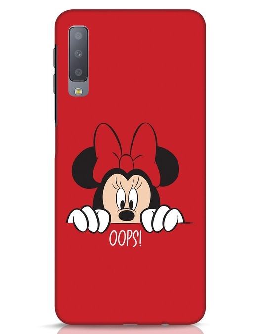 Shop Oops Minnie Samsung Galaxy A7 Mobile Cover-Front