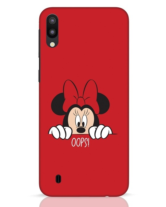 Shop Oops Minnie Samsung Galaxy M10 Mobile Cover-Front