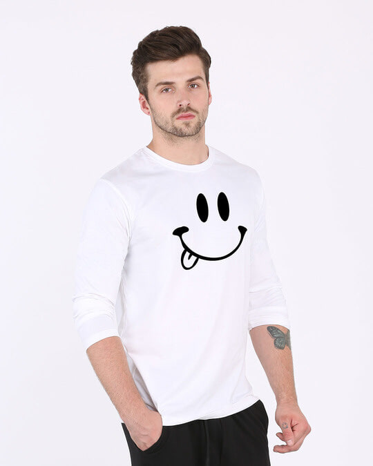 Shop Oops Smiley Full Sleeve T-Shirt-Back