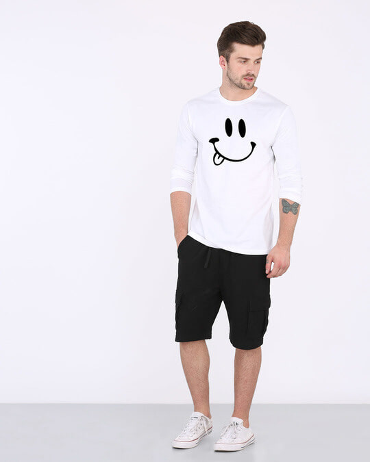 Shop Oops Smiley Full Sleeve T-Shirt