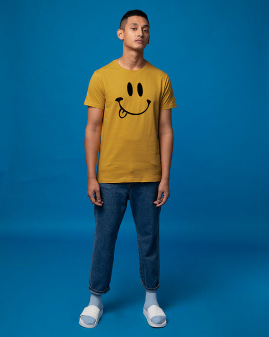 Shop Oops Smiley Half Sleeve T-Shirt