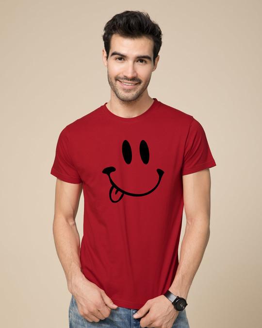 Shop Oops Smiley Half Sleeve T-Shirt-Back