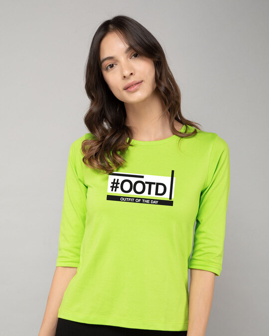 Shop Ootd 3/4th Sleeve T-Shirt-Front
