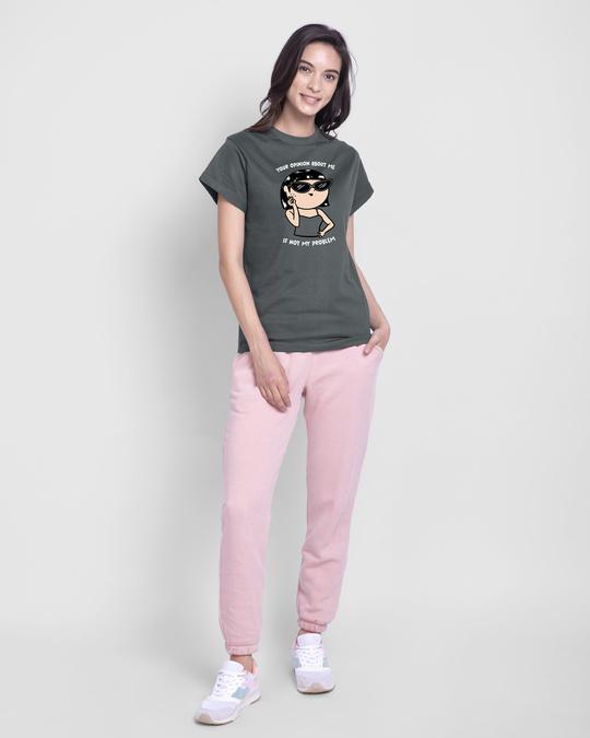 Shop Opinion About Me  Boyfriend T-Shirt  Nimbus Grey-Design