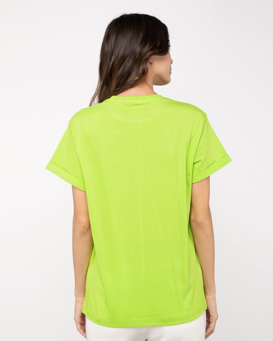 Shop Opinion About Me Boyfriend T-Shirt Neon Green-Design