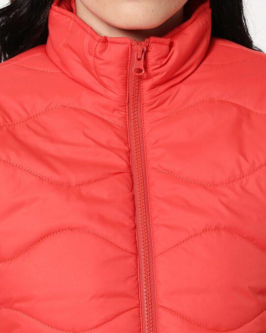 Shop Orange Chill Block Puffer Jacket