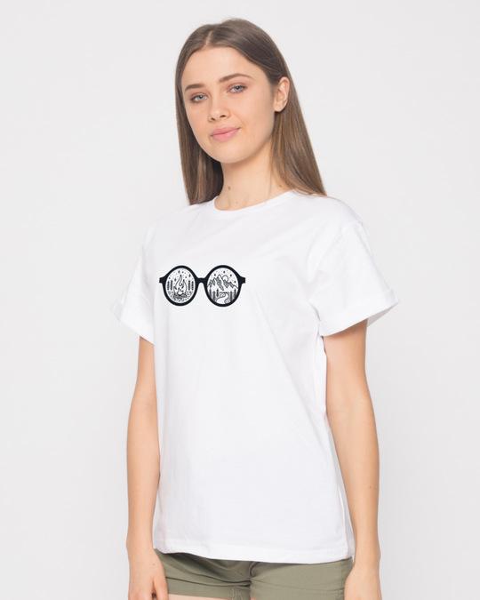 Shop Outdoor Glasses Boyfriend T-Shirt-Back