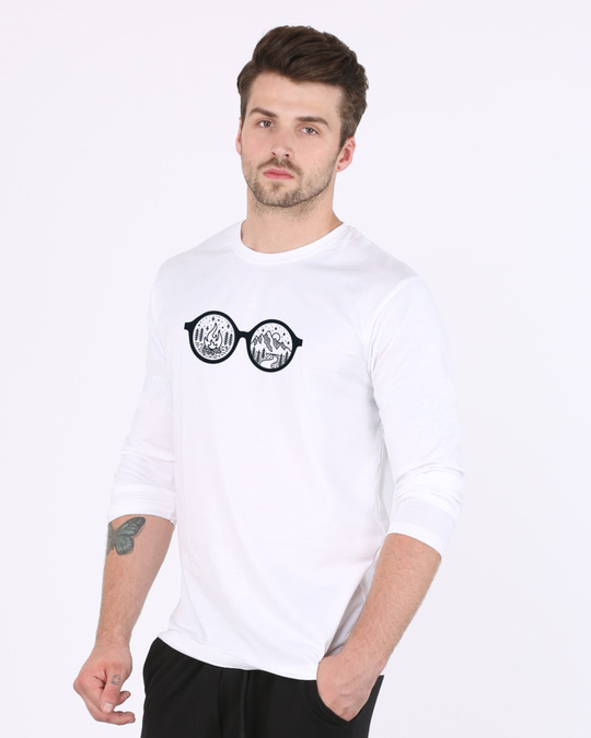 Shop Outdoor Glasses Full Sleeve T-Shirt-Back