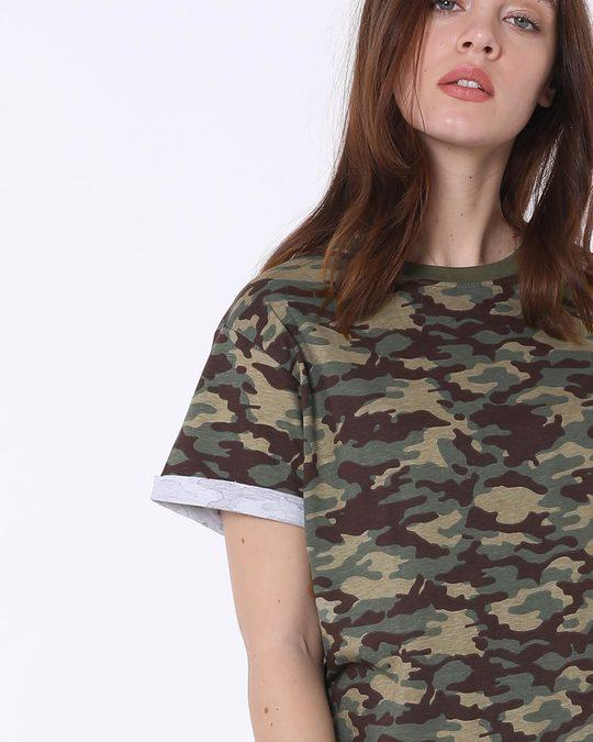 Shop Outdoor Green Camouflage Boyfriend T-Shirt